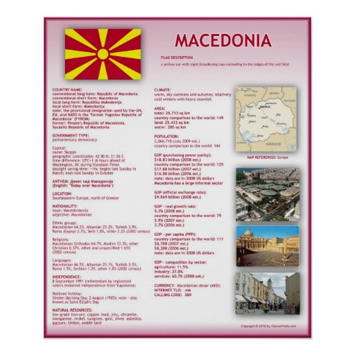 Macedonia Print
