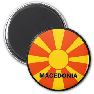 Macedonia Roundel quality Flag 2 Inch Round Magnet