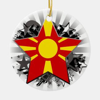 Macedonia Star Ceramic Ornament