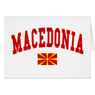 MACEDONIA TARJETÓN