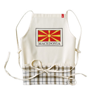 Macedonia Zazzle HEART Apron