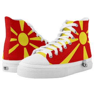 Macedonian flag High-Top sneakers