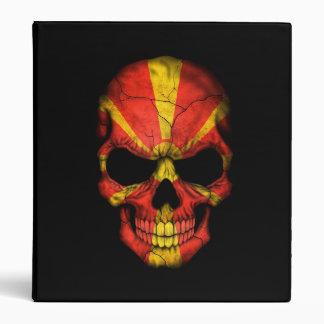 Macedonian Flag Skull on Black Binders