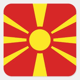 Macedonian Flag Square Sticker