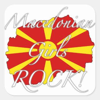 Macedonian Girls Rock! Square Sticker