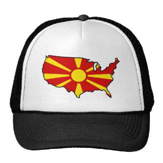 Macedonian in USA Trucker Hat