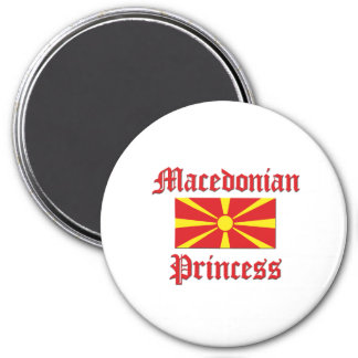 Macedonian Princess 3 Inch Round Magnet
