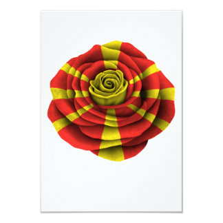 Macedonian Rose Flag Card