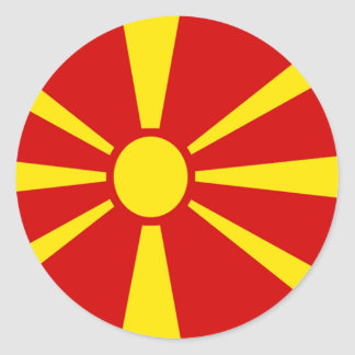 Macedonian rounded stickers
