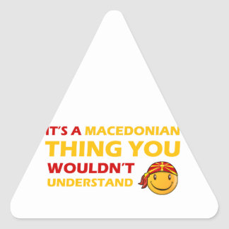 MACEDONIAN smiley design Triangle Sticker