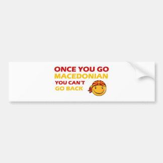 Macedonian Smiley Designs Bumper Sticker