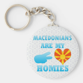 Macedonians are my Homies Basic Round Button Keychain