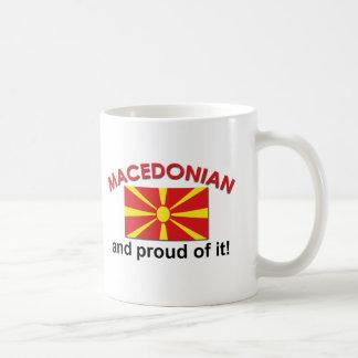 Macedonio orgulloso taza de café