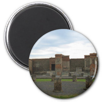 Macellum (mercados) en Pompeya antiguo Imán Redondo 5 Cm