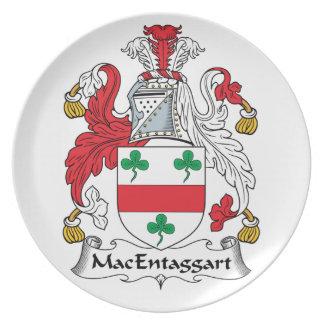 MacEntaggart Family Crest Dinner Plate