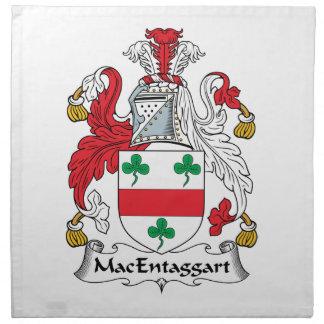 MacEntaggart Family Crest Napkin