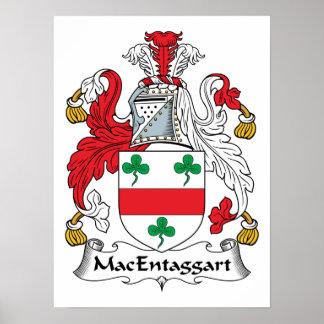 MacEntaggart Family Crest Poster