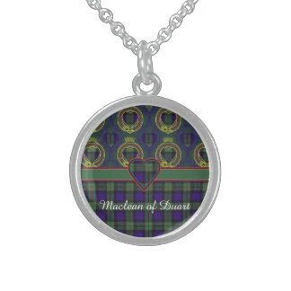Macewen clan Plaid Scottish tartan Sterling Silver Necklace