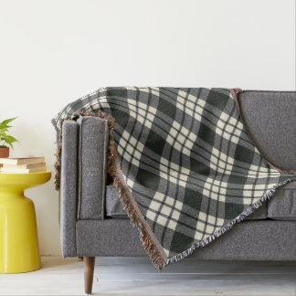 MacFarlane Black White M Original Scottish Tartan Throw Blanket