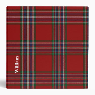 MacFarlane Clan Custom Tartan Plaid Binder