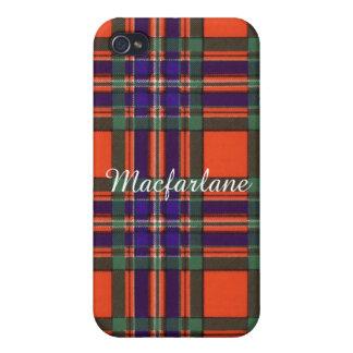 Macfarlane clan Plaid Scottish tartan iPhone 4 Covers