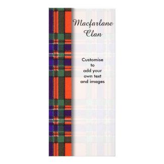 Macfarlane clan Plaid Scottish tartan Rack Card