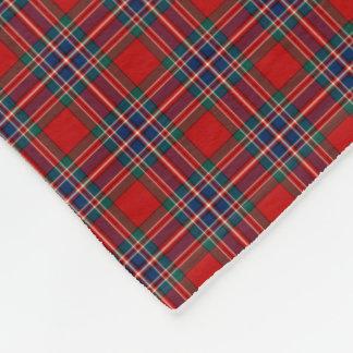 MacFarlane Clan Red and Royal Blue Tartan Fleece Blanket