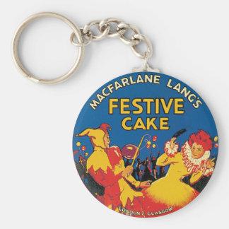 Macfarlane Lang's Festive Cake London & Glasgow Keychain