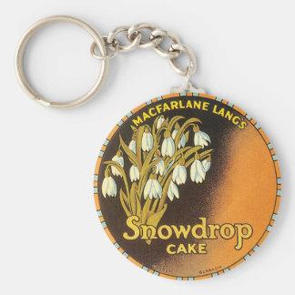 Macfarlane Lang's Snowdrop Cake London & Glasgow Basic Round Button Keychain