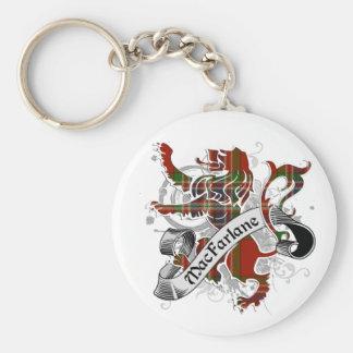 MacFarlane Tartan Lion Keychain