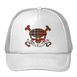 MacFarlane Tartan Skull Trucker Hat