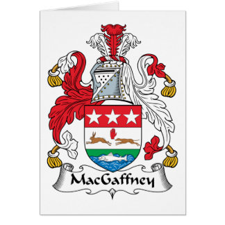 MacGaffney Family Crest Card