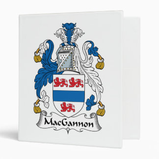 MacGannon Family Crest 3 Ring Binders