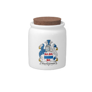 MacGannon Family Crest Candy Jars