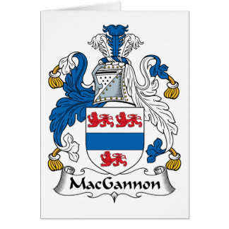 MacGannon Family Crest Cards
