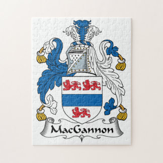 MacGannon Family Crest Jigsaw Puzzle