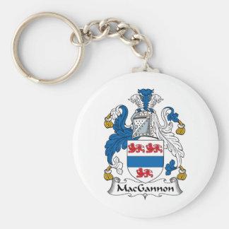 MacGannon Family Crest Keychains