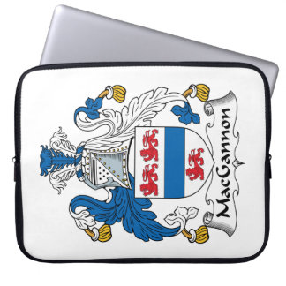 MacGannon Family Crest Laptop Sleeves