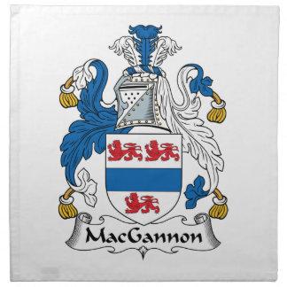 MacGannon Family Crest Napkins