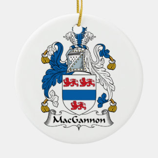 MacGannon Family Crest Ornaments