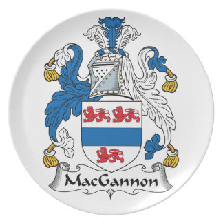 MacGannon Family Crest Party Plate