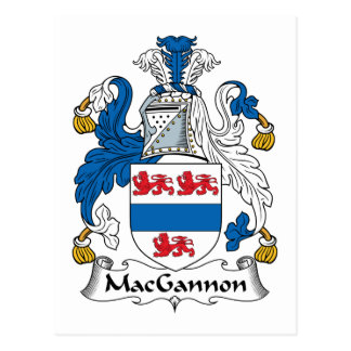 MacGannon Family Crest Post Card