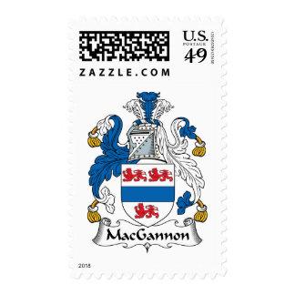 MacGannon Family Crest Postage
