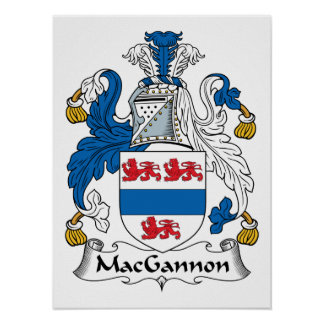 MacGannon Family Crest Posters