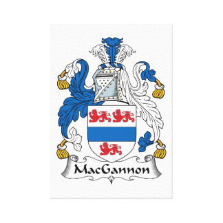 MacGannon Family Crest Stretched Canvas Prints