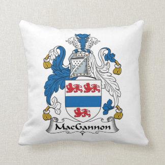 MacGannon Family Crest Throw Pillows