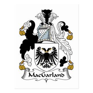MacGarland Family Crest Postcard