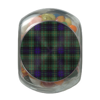MacGarrow clan Plaid Scottish kilt tartan Glass Candy Jar