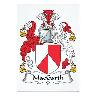MacGarth Family Crest Card