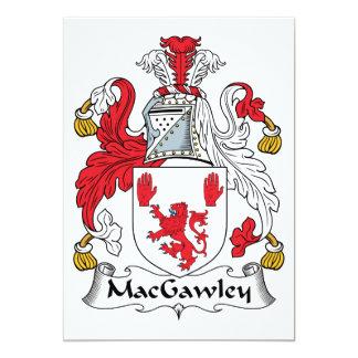 MacGawley Family Crest Card